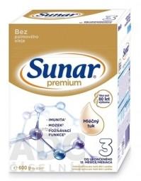 Sunar Premium 3 mliečna výživa (od ukonč. 12. mesiaca) (inov.2020) 1x600 g