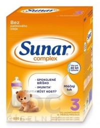 Sunar Complex 3 mliečna výživa (od ukonč. 12. mesiaca) (inov.2020) 1x600 g
