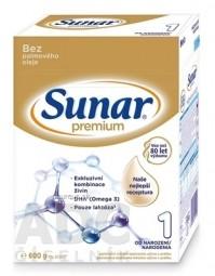 Sunar Premium 1 počiatočná mliečna výživa (od narodenia) (inov.2020) 1x600 g
