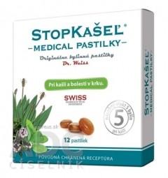STOPKAŠEĽ Medical PASTILKY - Dr.Weiss pri kašli a bolesti v krku 1x12 ks