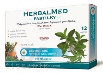 HERBALMED PASTILKY pri nádche - Dr.Weiss (eukalyptus, mäta, 20 bylín, vit.C) pastilky 1x12 ks
