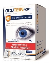 OCUTEIN FORTE Luteín 15 mg - DA VINCI cps 60+15 zadarmo (75 ks)