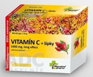 Slovakiapharm VITAMÍN C 1000 mg +šípky long effect