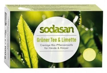 BIO pleťové mydlo CREAM zelený čaj a limetka - 100g