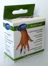 MEDIC Bandáž Finger Modrá 2,5cm x 4,5m, náplasť elastická (rýchloobväz), 1x1 ks