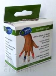 MEDIC Bandáž Finger Červená 2,5cm x 4,5m, náplasť elastická (rýchloobväz), 1x1 ks