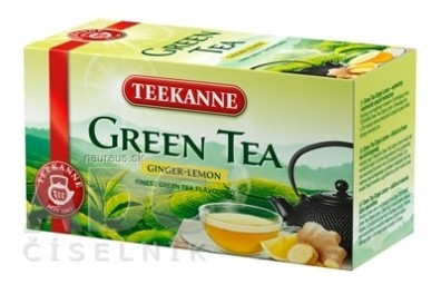 TEEKANNE GREEN TEA GINGER, LEMON
