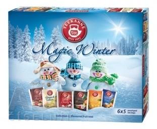 TEEKANNE MAGIC WINTER KOLEKCIA 2017 čaje (M.Apple, G.Lem., S.Cherr., M.M., F.Oran., W.Time) 6x5 nálevových vrecúšok,1x1 set