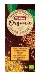 Torras Organic horká - sezam a peľ 100g
