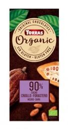 Torras Organic horká - 90% 100g