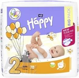 bella HAPPY 2 MINI detské plienky (3-6 kg) 1x78 ks