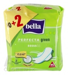 bella PERFECTA GREEN hygienické vložky, silky drai, 10+2 ks (12 ks)