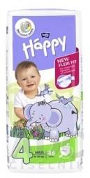 bella HAPPY 4 MAXI detské plienky (8-18 kg) 1x46 ks