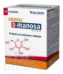 UROVAL D - manosa prášok na prípravu nápoja, vrecúška 1x15 ks