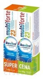 Revital multiforte šumivý DUOPACK tbl eff s príchuťou pomaranča a tropického ovocia 2x20 (40 ks) 1x1 set