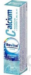 Revital Calcium+MAGNÉZIUM+VITAMÍNY C, B6, D3, K1 tbl eff s príchuťou citrónu 1x20 ks
