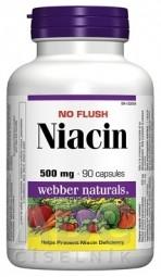 Webber Naturals Niacin 500 mg (nealergický) cps 1x90 ks
