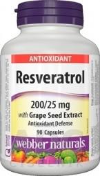 Webber Naturals Resveratrol cps 1x90 ks