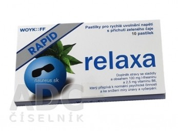 relaxa RAPID - Woykoff pastilky 1x10 ks