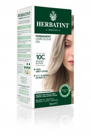 HERBATINT permanentná farba na vlasy švédska blond 10C