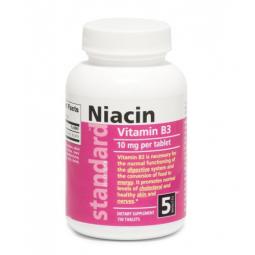 Vitamín B3 Niacín 10 mg, 750 tabliet