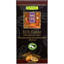 Čokoláda horká 85% BIO 80 g Rapunzel *