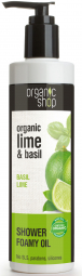 Organic Shop - Bazalka & Limetka - Sprchový penivý olej 280 ml