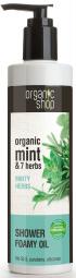 Organic Shop - Mäta a 7 bylín - Sprchový penivý olej