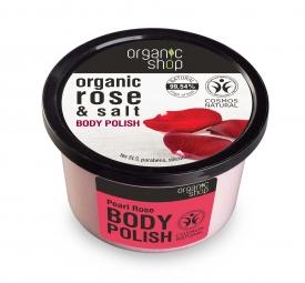 Organic Shop - Ružové perly - Telový peeling 250 ml