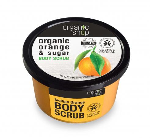 Organic Shop - Sicílsky pomaranč - Telový peeling 250 ml