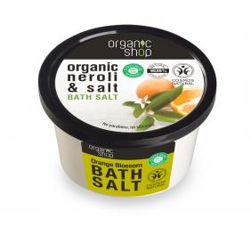 Organic Shop - Kvet pomarančovníka - Soľ do kúpeľa 250 ml