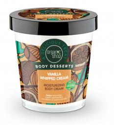 Organic Shop - Hydratačný telový krém - Vanilková šľahačka 450 ml