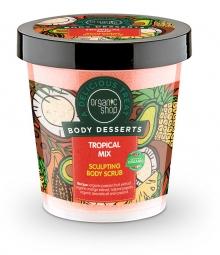 Organic Shop - Tropický Mix - Telový peeling 450 ml