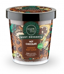 Organic Shop - Hrejivý telový peeling Horúca čokoláda 450 ml