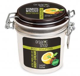 Organic Shop - Citrónová káva - Aktívne tvarujúci denný telový krém 350 ml