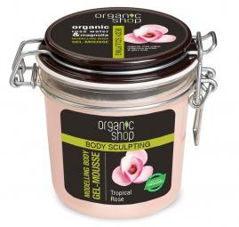 Organi Shop - Tropická ruža - Modelujúca telová, gélová pena 350 ml
