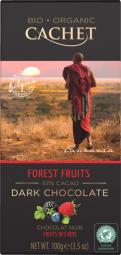 CACHET čokoláda Tanzania Organic horká 57% lesné ovocie 100g