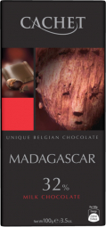 CACHET čokoláda mliečna MADAGASKAR 32% 100g