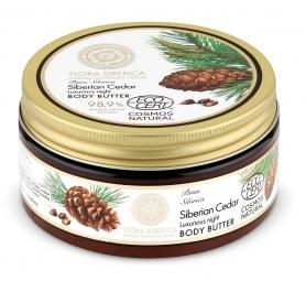 Flora Siberica - Luxusné nočné telové maslo - Sibírsky céder