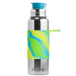 Pura® nerezová fľaša so športovým uzáverom 850ml - Zelená-aqua