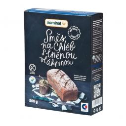 AKCIA SPOTREBA: 03.01.2020 - Zmes na chlieb s ľanovou vlákninou bezlepkový 500 g NOMINAL