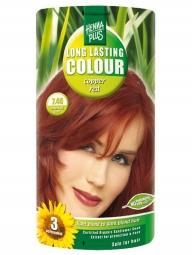 HennaPlus Dlhotrvajúca farba Medeno Červená 7.46