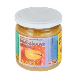 Krém arašidový s kúskami 330 g BIO Monk