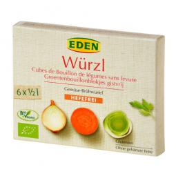 Bujón zeleninový WÜRZL kocky bez droždia 72 g BIO EDEN