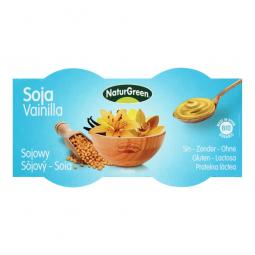 Dezert sójový s vanilkovou príchuťou 2x125 g BIO NATURGREEN