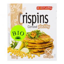 Placky cícerové Crispins bezlepkové 250 g BIO EXTRUDO