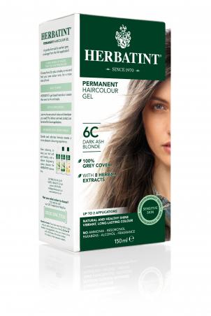 HERBATINT permanentná farba na vlasy tmavá popolavá blond 6C