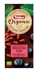 Torras Organic horká - goji a acai 100g