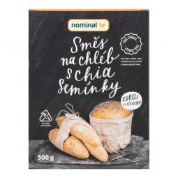 AKCIA SPOTREBA: 02.10.2019 - Zmes na chlieb s chia semienkami bezlepková 500 g NOMINAL