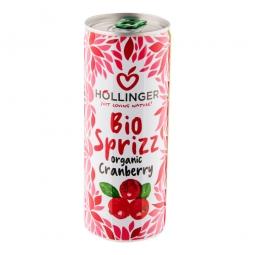 Limonáda brusnica plech 250 ml BIO Hollinger
